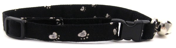 Black Paws Cat Collar