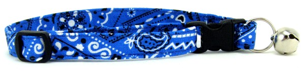 Bright Blue Bandana Cat Collar