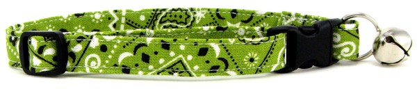 Lime Green Bandana Cat Collar