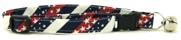 Red White and Blue Chevrons Cat Collar