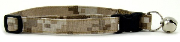 Tan Digital Camo Cat Collar