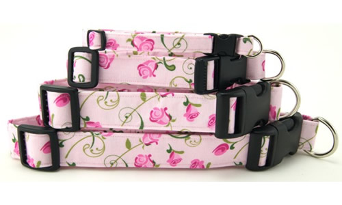 Flower and Nature Print Dog Collars