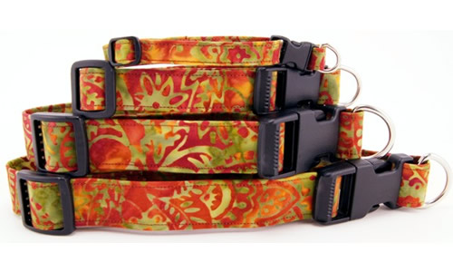 Stars, Stripes, Batik and Shapes Dog Collars